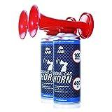AAB Cooling Signal Gas Horn 400ml - Conjunto de 2 - Fanfarria Muy Fuerte, Bocina Barco, Bocinas de Aire, Trompeta Futbol, Bocina Sirena, Air Horn