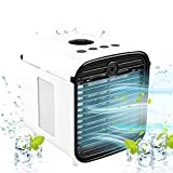 Air Cooler, 5-in-1 Portable Air Conditioner with LED Light and Purifier, Mini Personal Evaporative Cooler for Home & Office Desk Outdoors Travel