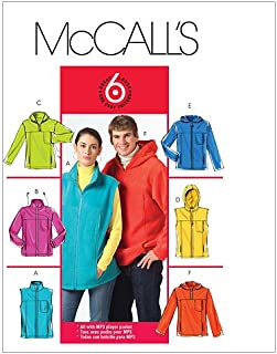 McCall's Patterns M5252 Misses/Men's Unlined Vest and Jackets, Size XM (SML-MED-LRG)
