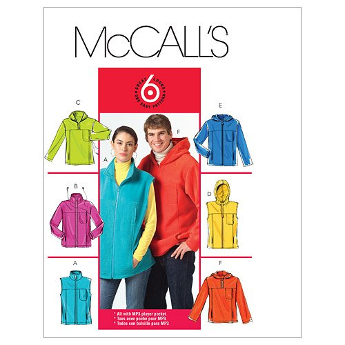 McCall's Patterns M5252 Misses/Men's Unlined Vest and Jackets, Size XN (XLG-XXL-XXXL)