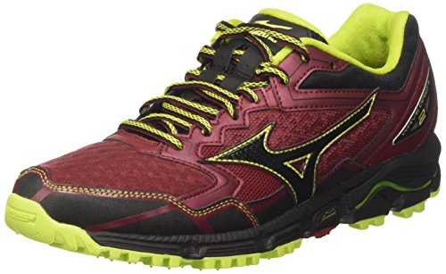 Mizuno Wave Daichi, Zapatillas de Running para Hombre, Multicolor (Bikingred/Black/Limepunch), 45 EU