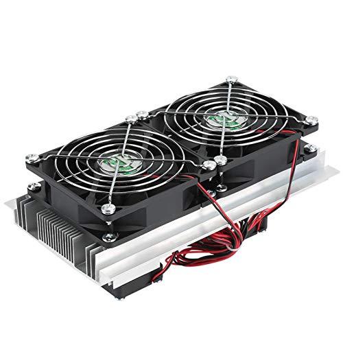 Emoshayoga Halbleiter-Kältekühler DIY-Kit, Lüftersystem Kühlkörper-Kit Kühler Mini-Klimaanlage Kühlschrank Großer Kühlblock Schnellkühlung für kleinen Kühlschrank
