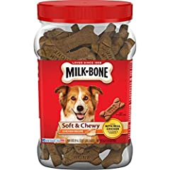 Contains 1 - 25 Ounce Canister of Dog Treats for Dogs of All Sizes Wholesome, delicious treat that you can feel good about giving Real chicken for protein and a savory flavor Fortified with 12 vitamins & minerals to help keep your dog at his or her b...