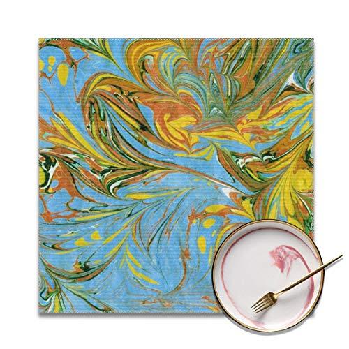 Architd aquarel patroon marmer texturen schilderen op water Placemat tafel matten plaats mat gemakkelijk te reinigen Stain Resistant Placemats voor keuken dineren Set van 4 gepersonaliseerd