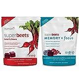 HumanN SuperBeets Heart Chews & SuperBeets Memory + Focus Chews