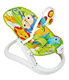 Fisher-Price Transat Repliable Amis de la Jungle à rebonds, deux hochets animaux suspendus, pour...