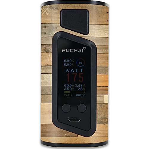 MightySkins Skin Compatible with Sigelei Fuchai Duo-3 Vape (2-Battery Cover) – Reclaimed Wood | Protective, Durable, and Unique Vinyl wrap Cover | Easy to Apply, Remove | Made in The USA