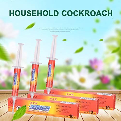 Aleekit Roach Control Gel Cebo Fipronil Seguro insecticida eficiente Potente para hoteles, Cocina, hogar, MYDING