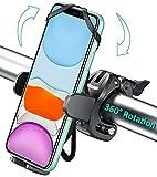 Cocoda Soporte Movil Bicicleta con 360° Rotación, Anti Vibración Soporte Movil Moto, Ajustable Porta Movil Bicicleta Montaña Compatible con iPhone 12/12 Pro/12 Mini/11 Pro Max/11 Pro/11, (4.0'-6.8')