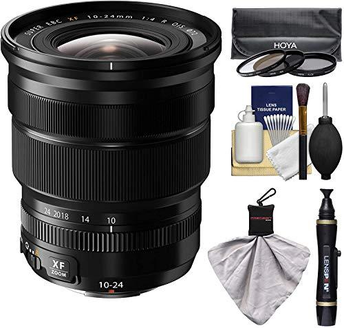 Fujifilm 10-24mm f/4.0 XF R OIS Zoom Lens with 3 Hoya UV/CP/ND8 Filters Kit for X-A2, X-E2, X-E2s, X-M1, X-T1, X-T10, X-Pro2 Cameras