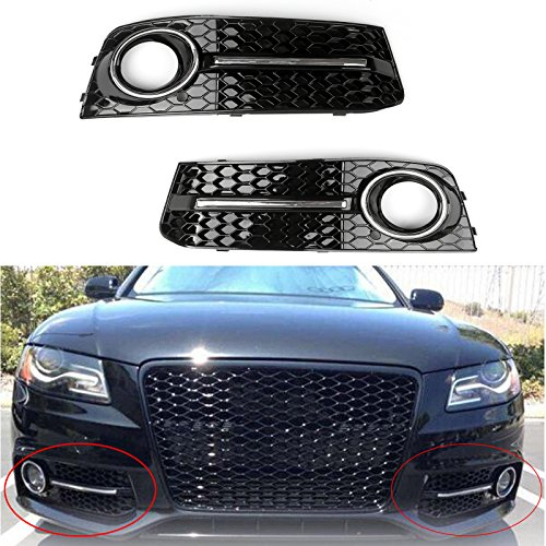 Areyourshop Honey Comb Fog Light Cover Kühlergitter Für Au-di A4 B8 2009-2012