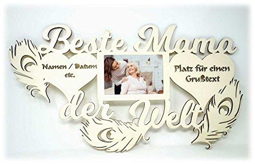 Namofactur Geschenke für Mama I praktische Geschenkidee mit Wunschtext zum Geburtstag Weihnachten Ostern Bilderrahmen 10 x 15 cm