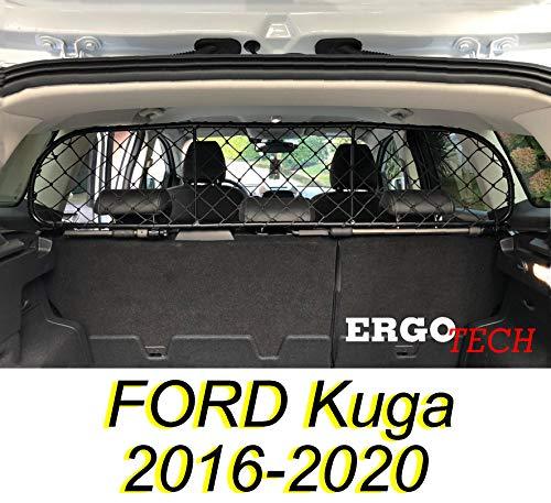 ERGOTECH Trennnetz Trenngitter kompatibel mit Ford Kuga (2016-2020) RDA65-S14, für Hunde und Gepäck.