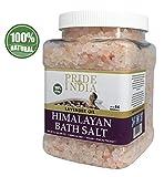 Fierté de sel de bain rose Inde de l'Himalaya enrichi l'huile de lavande w / 84+ et de minéraux naturels, 2,5 livres (40 onces) pot