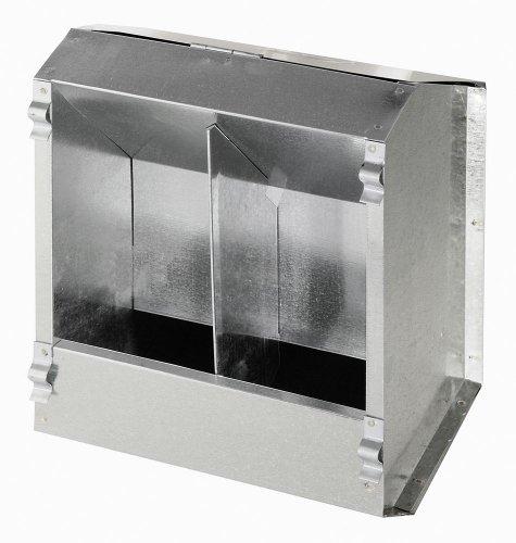 Comedero automático para conejos de metal, 2 huecos, 3l