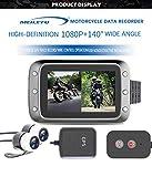 AKDSteel Motorcycle DVR Dash Cam 1080P Full HD Front Rear View Waterproof Motorcycle