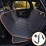 iBuddy Dog Seat Cover 100% Waterproof Car Seat Cover for Dogs Anti-Scratch Nonslip Dog Hammock Machine Washable Dog Back Seat Cover Protector with Side Flaps and dog seat belt Durable, Quilted, Padded