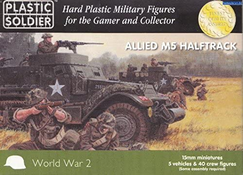 Plastic Soldier 15mm Allied M5 Halftrack   WW2V15020 by Plastic Soldier Company