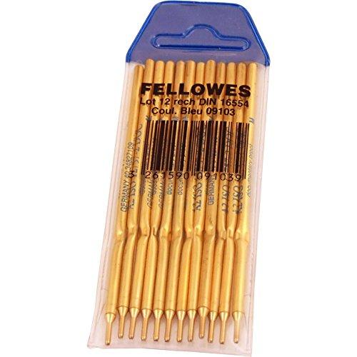 Fellowes 910301 - Pack de 12 recambios de bolígrafos peana, color azul ⭐