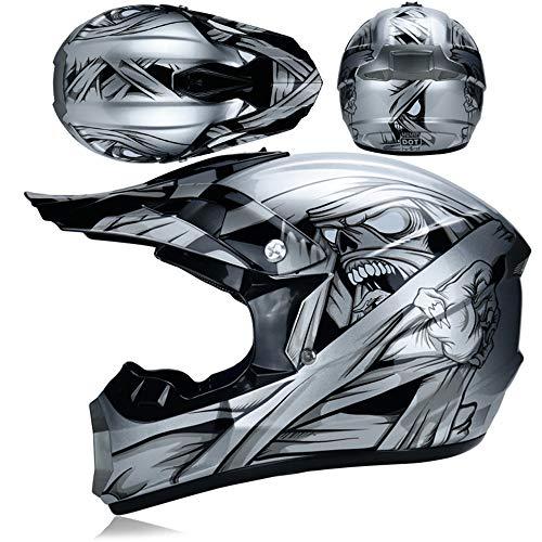 WangWDN Motorhelmen & handschoenen & veiligheidsbril D.O.T certificering kinderen Quad ATV Go Kart helm