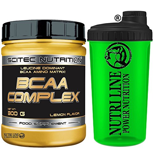Scitec Nutrition Bcaa Complex 300 gr. Aminoacidi Ramificati 8:1:1 in Polvere 811 + Shaker Nutriline