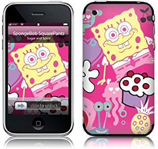 MusicSkins, MS-SBOB40001, SpongeBob SquarePants - Sugar and Spice, iPhone 2G/3G/3GS, Skin