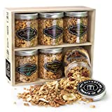 Oh! Nuts Healthy Granola Gift Baskets, 6 Variety Christmas Basket of Gourmet Toasted Oats & Nut, Birthday Gifts for Women, Men & Family, High Protin Keto Breakfast Snack Box, Holiday, Valentines Day