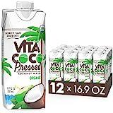 Vita Coco Organic Coconut Water, Pressed | More 'Coconutty' Flavor | Natural Electrolytes | Vital...