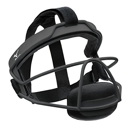 Mizuno 380266.9090.01.0000 MFF900Y Fielder's Small/Medium Facemask, Black, One Size