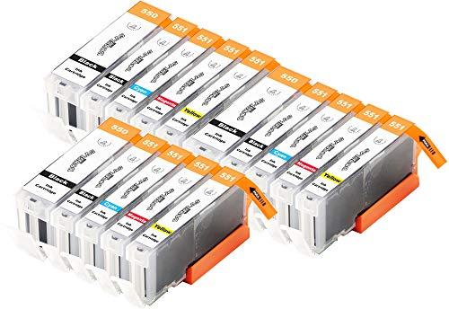 15 Dougalas Inks Cartuchos de Tinta compatibles con Canon CLI-551 Canon PGI-550 Canon iP7250 Canon Pixma iP7250 Canon MG5650 Canon Pixma iX6850 Canon MX925 Canon Pixma MX925 MG5550