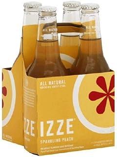 IZZE Sparkling Peach Juice 4 bottle X 12 oz (Pack of 6) [並行輸入品]