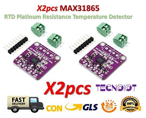 TECNOIOT 2pcs MAX31865 RTD Platinum Resistance Temperature Detector Module PT100