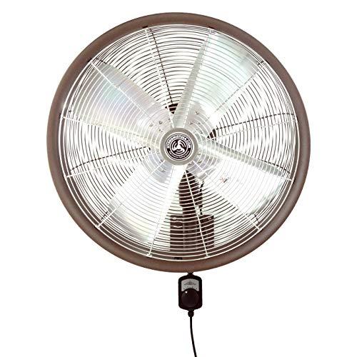 HydroMist F10-14-023 24 inch Oscillating Outdoor Fan, Dark Brown