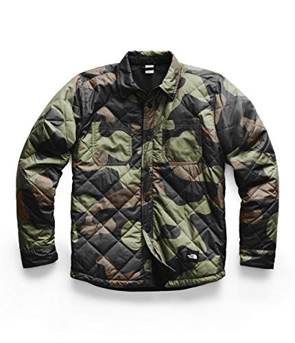 The North Face Men's Fort Point Insulated Flannel, Four Leaf Clover Terra Camo Print, M