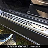 TDPQR 4 Piezas Acero Inoxidable Umbral De La Puerta,para Ford Escape 2014-2019 Protector De Umbral De Puerta Pegatinas Accesorios