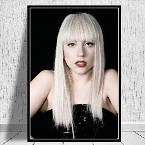 Cantante Musical Lady Gaga Pop Star,pósteres Impresión Artística Imagen Gráfica Decoracion de Pared-50x75cm-No Frame