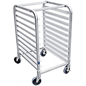 AmGood Commercial Kitchen Pan Rack – Heavy Duty, Bun Pan Sheet Rack, NSF Certified with Wheels (10 Tier Pan Rack)