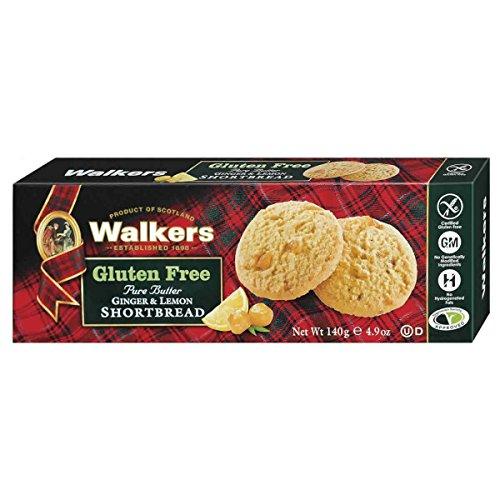 Walkers Gluten Free Pure Butter Ginger & Lemon Shortbread Cookies, 4.9 Ounce
