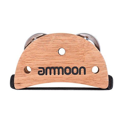 ammoon Scatola ellittica Cajon accessorio Drum Companion Tamboril Jingle in piedi per strumenti a percussione manuale, Legno