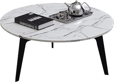 Mesa de Centro de Estilo Minimalista, Tablero de Material de mármol, Marco Triangular,
