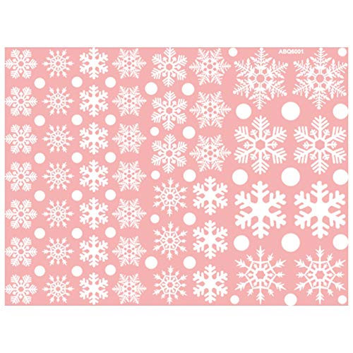 HNLY Weihnachtsaufkleber Weihnachtsschneeflockenaufkleber Weihnachtstag Glasaufkleber Weihnachtsdekoration Heimdekoration Mit 45X60Cm