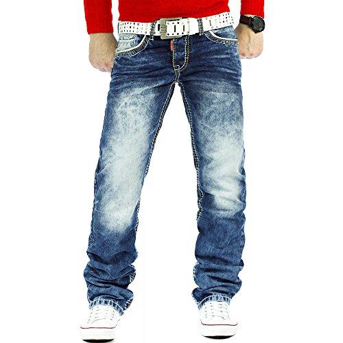 Cipo & Baxx Herren Jeans Regular Fit Designer Denim (33/32)
