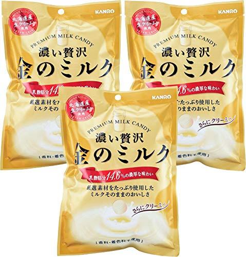 Kanro Kin No Milk Candy 2.82oz/80g (3 Pack)
