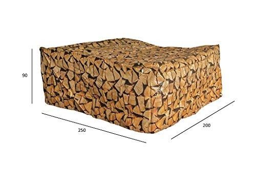 11. Housse de protection universelle salon de jardin 240 cm imprimer tas de bois