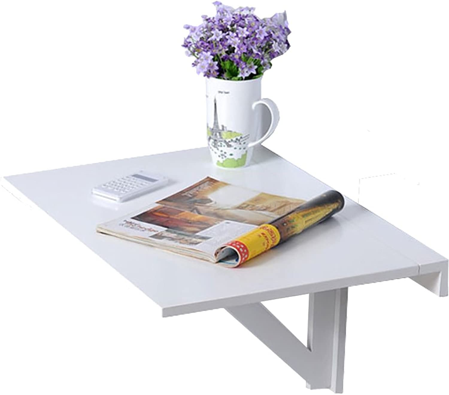ZJM- Wall Hanging Folding Table Wall Mounted Side Table Kitchen Dining Table Computer Desk White 6040cm
