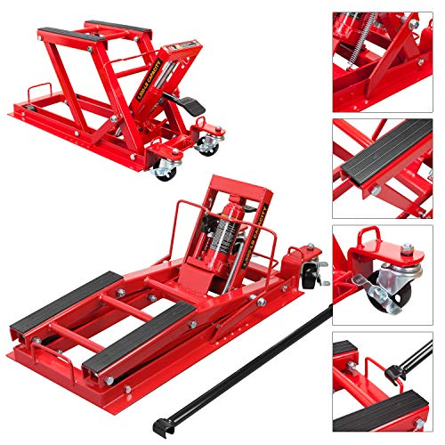 Torin T64017 Big Red Motorcycle / ATV Jack: 3/4 Ton (1,500 lb) Capacity