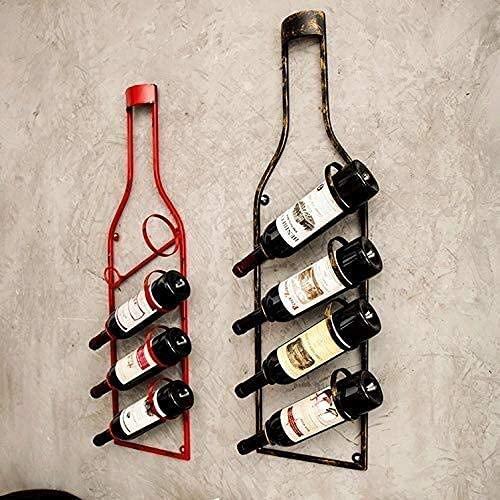 JYDQM Estante para Vino, Botellero para Vino, Completamente Ensamblado, Estante para Vino de Madera Ligera de Vapor, para 4 Botellas, con Alenamiento en la Mesa de Vidrio,Negro