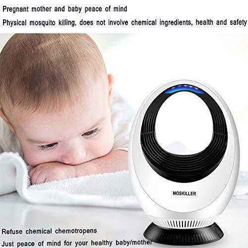 Dulimei nachttafellamp, elektrische insectenverdelger, anti-muggenlamp, uv-bug led-licht, vrij van chemicaliën, niet giftig, geruisloos, veilig voor baby's en zwangere vrouwen