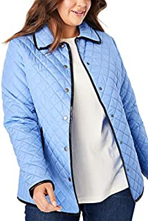 Woman Within Women's Plus Size Quilted Snap-Front Jacket