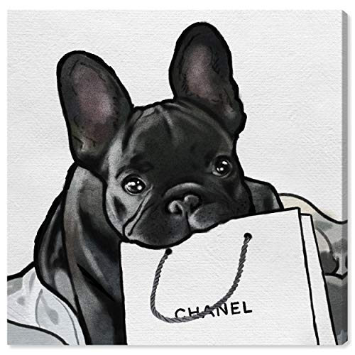 Oliver Gal 'French French French' The Dogs and Puppies Wall Art Decor Collection Modern Premium Canvas Art Print